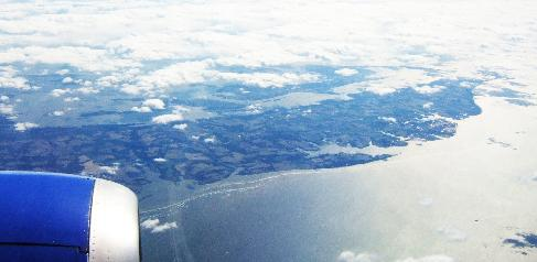 Picture of the Shore from the air